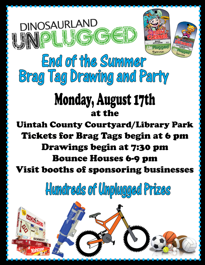 "Let's reward the kids for staying ""UNPLUGGED"" this summer!!!"